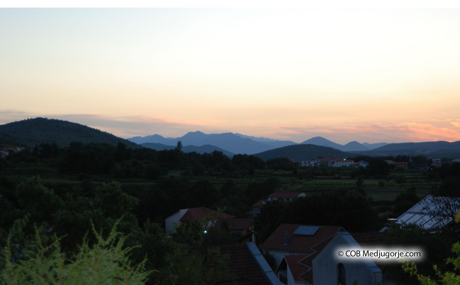 Sunset in Medjugorje
